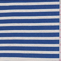 *1 1/8 YD PC--Ocean/Heather Stripe French Terry Knit