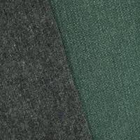 *2 3/8 YD PC--Forest Green/Gray Double Sided Woven Wool Blend Jacketing