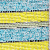 *5 YD PC--Lemon/Aqua Sequin Stripe Chiffon