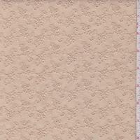 *1 YD PC--Dark Beige Mini Floral Cluster Eyelet