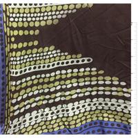 *1 1/4 YD PC--Black Print Silk Jersey Knit