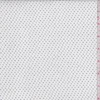 White/Navy Mini Numbers Linen Blend