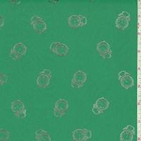 Aqua Green/Silver Clock Georgette