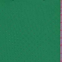 Kelly/Metallic Gold Pin Dot Chiffon
