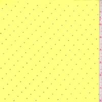 Lemon/Metallic Gold Pin Dot Chiffon