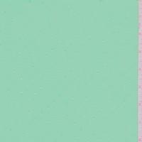 Seafoam/Metallic Silver Pin Dot Chiffon