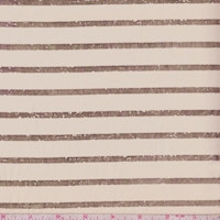 Golden Beige/Gold Foil Stripe Chiffon