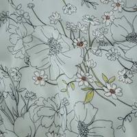 *3 1/2 YD PC -- Mist Green/Multi Floral Printed Crepe Chiffon