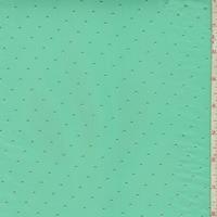 Aqua Green/Metallic Gold Pin Dot Chiffon