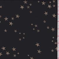 Black/Gold Sparkle Star Organza