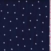 Navy/White Diamond Print Chiffon