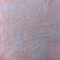 Bright Coral Orange Twill/Splatter Print Chiffon