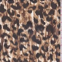 Mocha/Camel/Gold Cheetah Print Chiffon