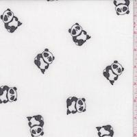 White Panda Brushed French Terry Knit