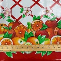 Red Fruit Lattice Oilcloth