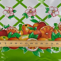 Green Fruit Lattice Oilcloth