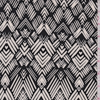 ITY Black/Pearl Art Deco Diamond Nylon Jersey Knit