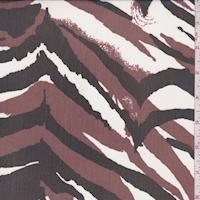 Sienna Brown/Black Tiger Print Chiffon