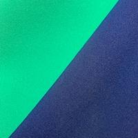 Green Jade/Orient Blue Stretch Crepe
