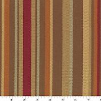 *8 1/8 YD PC--Brown Sugar/Red Multi Stripe Herringbone Home Decorating Fabric