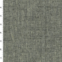 *4 1/8 YD PC--Stormy Sky Gray/Ivory Diamond Twill Woven Home Decorating Fabric
