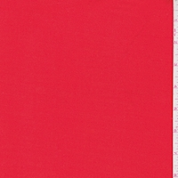 *1 YD PC--Bright Red Rayon Blend Suiting
