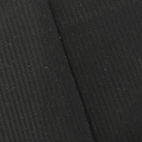 *2 3/4 YD PC-- Solid Black Striped/Ribbed Suiting