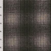 *3 3/4 YD PC--Black/Stone Multi Brushed Woven Plaid Jacketing
