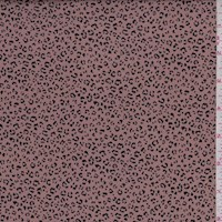 *3 3/8 YD PC--Copper Micro Cheetah Double Brushed Jersey Knit