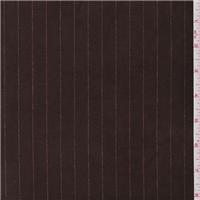*4 1/4 YD PC--Brown Stripe Stretch Velvet