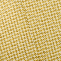 Straw Yellow/Ivory Houndstooth Woven Decorating Fabric