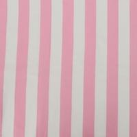 Pastel Pink/White Striped Woven Drapery Fabric