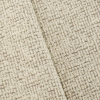 Ivory/Taupe Wool Blend Boucle Bonded Woven Decor Fabric