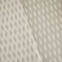 Taupe Gray/Ivory Wool Blend Abstract Damask Decor Fabric