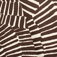 Brown/Off-White Indoor/Outdoor Abstract Printed Decor Fabric