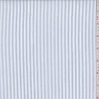 *1 YD PC--White/Blue Pinstripe Shirting