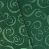 Pine Green Swirl Velvet Home Decorating Fabric