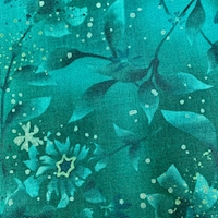 """*6 YD PC--Teal Blue Twinkling Stars """"Boundless"""" Cotton"""