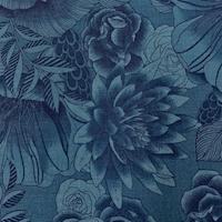 "*6 YD PC--Royal Blue Floral ""Boundless"" Cotton"