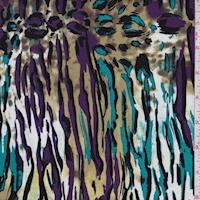 Olive/Plum/Teal Animal Print Swimwear