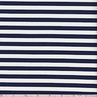 White/Navy Stripe Swimwear