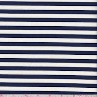 *1 YD PC--Cream/Navy Stripe Swimwear