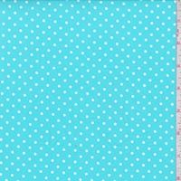 *1 YD PC--Turquoise/White Dot Swimwear