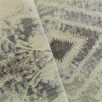 *4 YD PC--Grey/Ivory Contemporary Jacquard Home Decorating Fabric