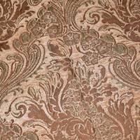 *9 YD PC--Brown/Beige/Multi Baroque Chenille Jacquard Decor Fabric