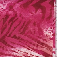 *1 YD PC--ITY Clay/Raspberry Animal Print Jersey Knit