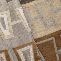 Brown/Multi Abstract Stripe Chenille Jacquard Decor Fabric