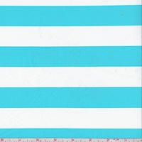 *1 YD PC--Turquoise/White Stripe Swimwear