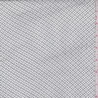 White/Black Circle Dot Crepe De Chine