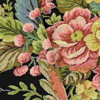 Black/Pink/Multi Floral Tapestry Home Decorating Fabric